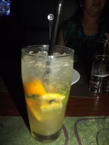 lemon and orange mojito
